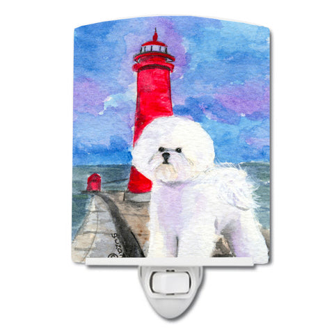 Buy this Lighthouse with Bichon Frise Ceramic Night Light SS8891CNL