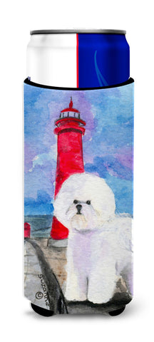 Buy this Lighthouse with Bichon Frise Ultra Beverage Insulators for slim cans SS8891MUK