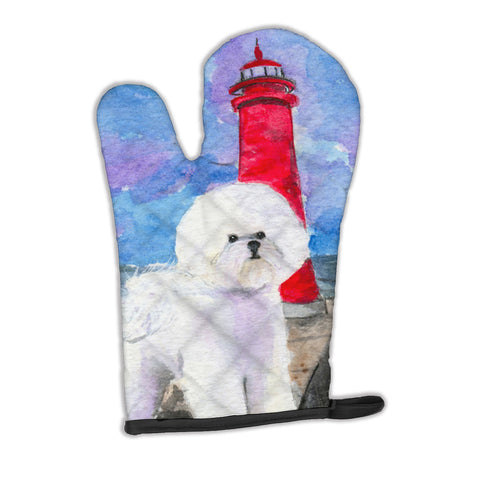 Buy this Lighthouse with Bichon Frise Oven Mitt SS8891OVMT