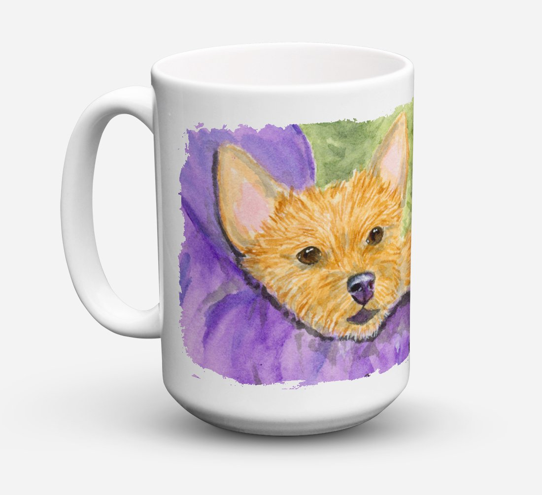 Norwich Terrier Dishwasher Safe Microwavable Ceramic Coffee Mug 15 ounce SS8898CM15 by Caroline's Treasures
