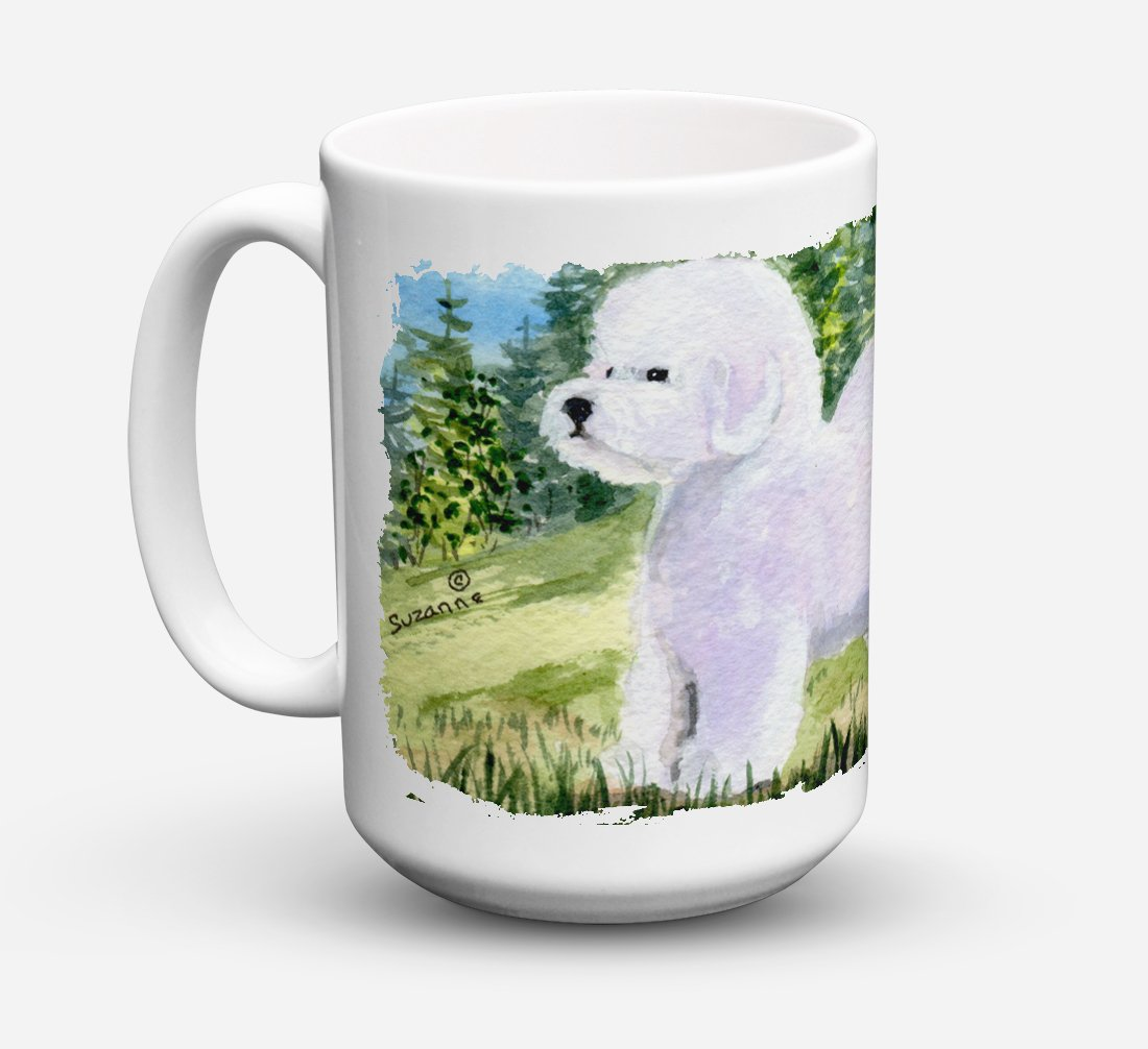 Bichon Frise Dishwasher Safe Microwavable Ceramic Coffee Mug 15 ounce SS8900CM15 by Caroline's Treasures
