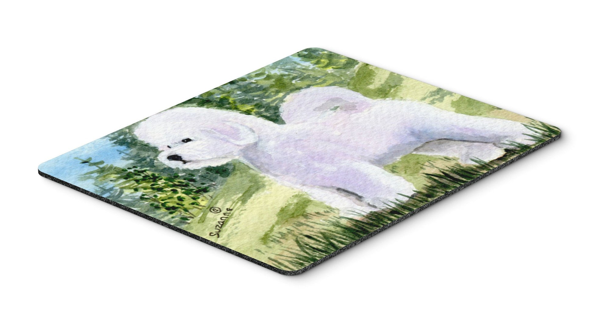 Bichon Frise Mouse pad, hot pad, or trivet by Caroline's Treasures
