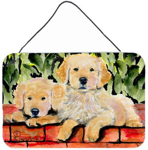 Buy this Golden Retriever Indoor Aluminium Metal Wall or Door Hanging Prints