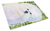 Bichon Frise Glass Cutting Board Large by Caroline's Treasures