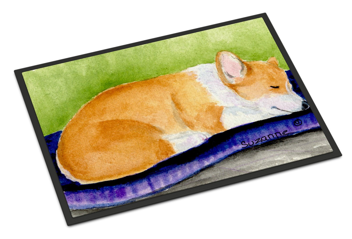 Corgi Indoor Outdoor Mat 18x27 Doormat by Caroline's Treasures