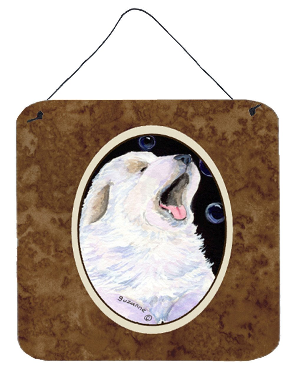 Great Pyrenees Aluminium Metal Wall or Door Hanging Prints by Caroline's Treasures