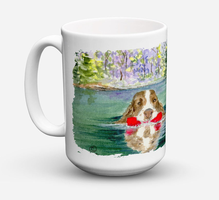 Buy this Springer Spaniel Dishwasher Safe Microwavable Ceramic Coffee Mug 15 ounce SS8943CM15