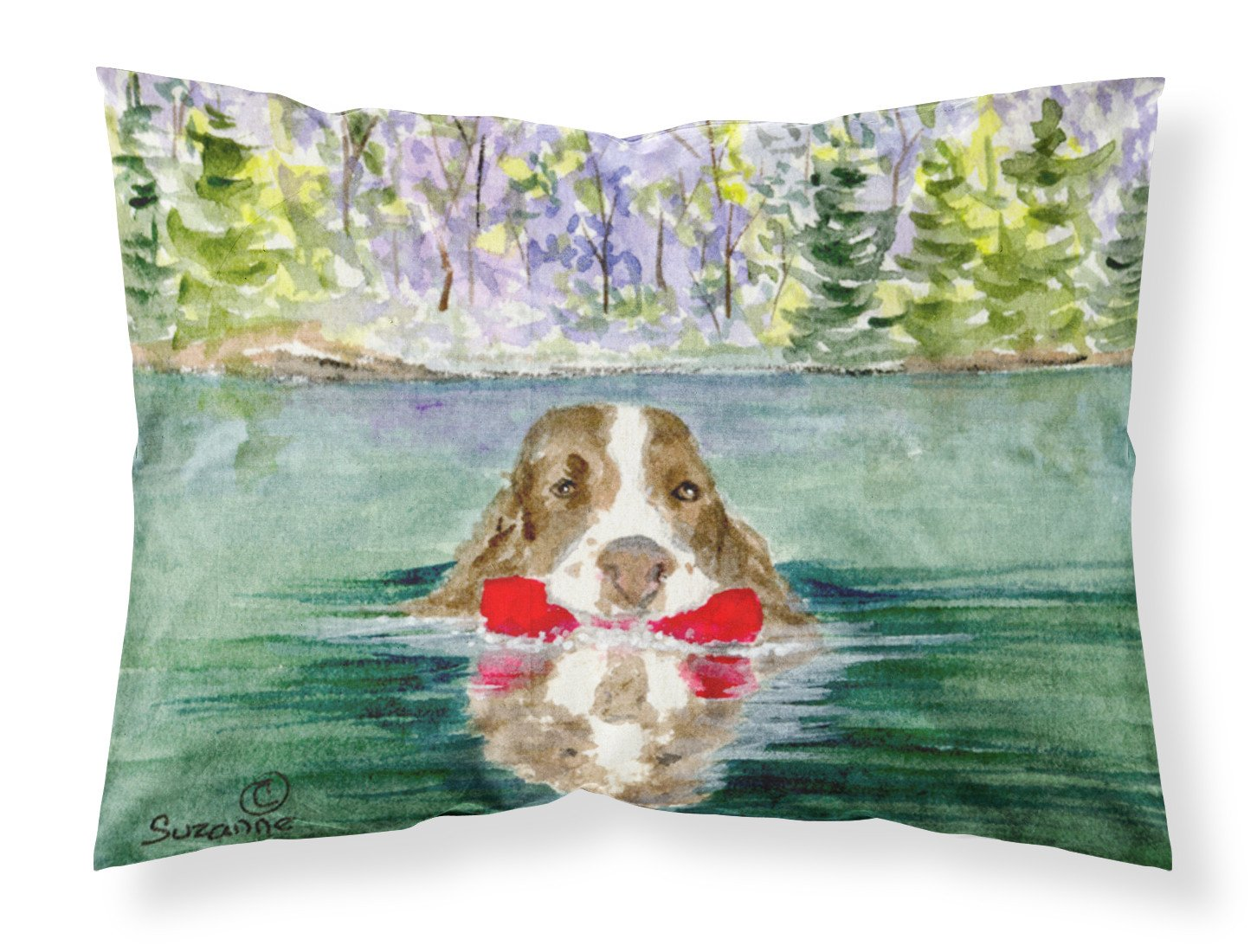 Springer Spaniel Moisture wicking Fabric standard pillowcase by Caroline's Treasures