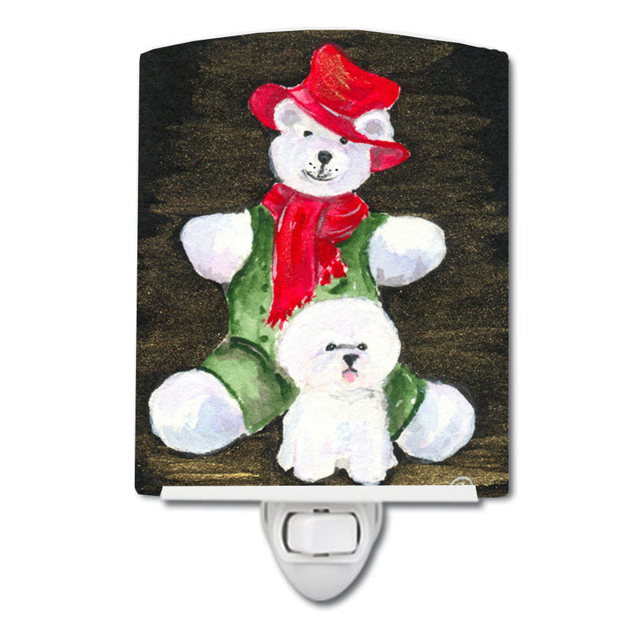 Buy this Bichon Frise with Teddy Bear Ceramic Night Light SS8948CNL