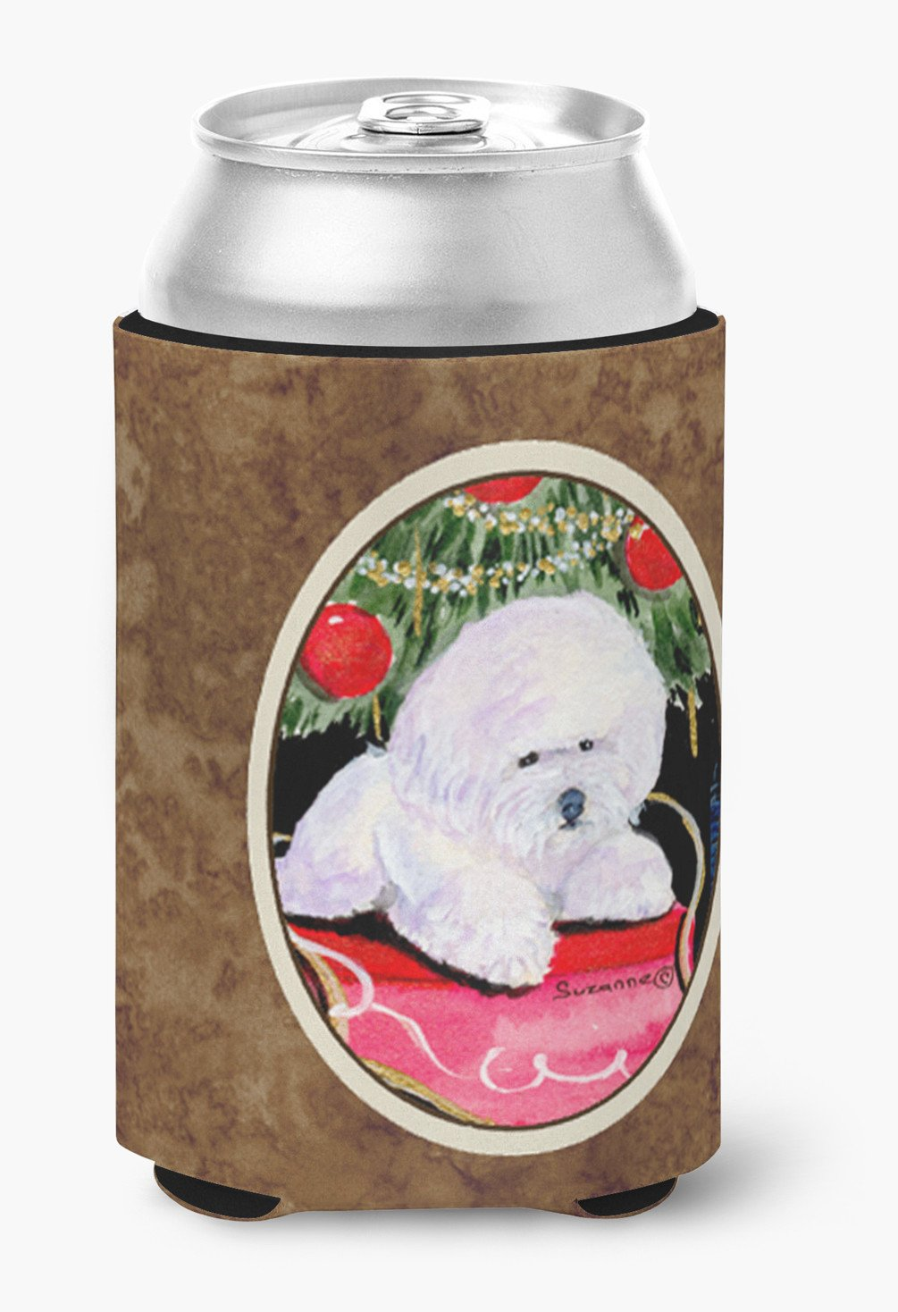 Christmas Tree with  Bichon Frise Can or Bottle Beverage Insulator Hugger by Caroline's Treasures
