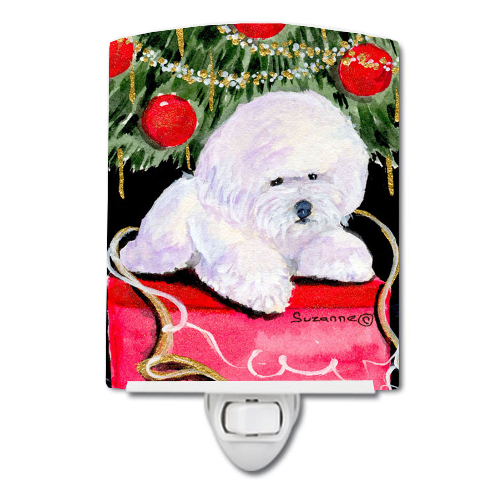 Buy this Christmas Tree with  Bichon Frise Ceramic Night Light SS8957CNL