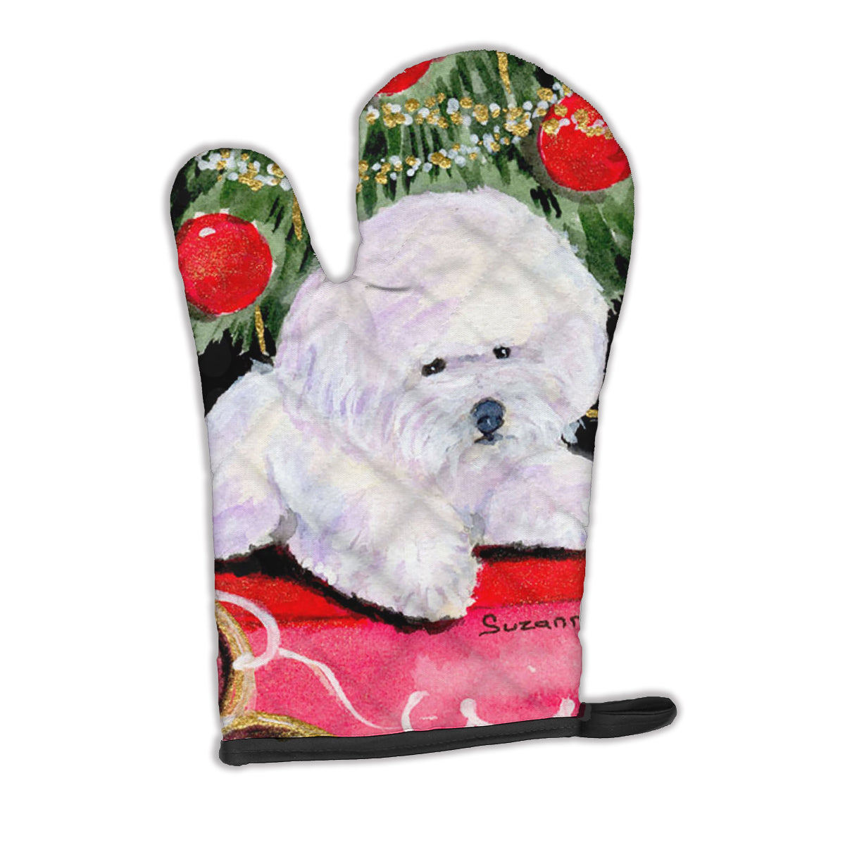 Christmas Tree with  Bichon Frise Oven Mitt SS8957OVMT by Caroline's Treasures