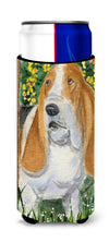Basset Hound Ultra Beverage Insulators for slim cans SS8964MUK by Caroline's Treasures