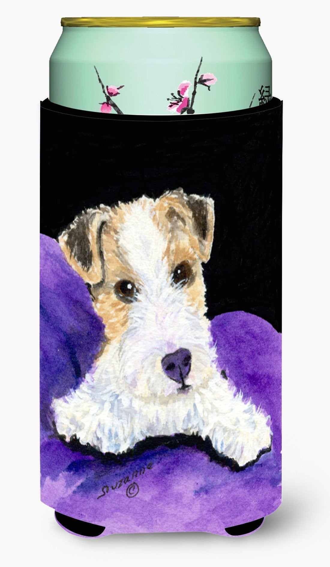 Fox Terrier  Tall Boy Beverage Insulator Beverage Insulator Hugger by Caroline's Treasures