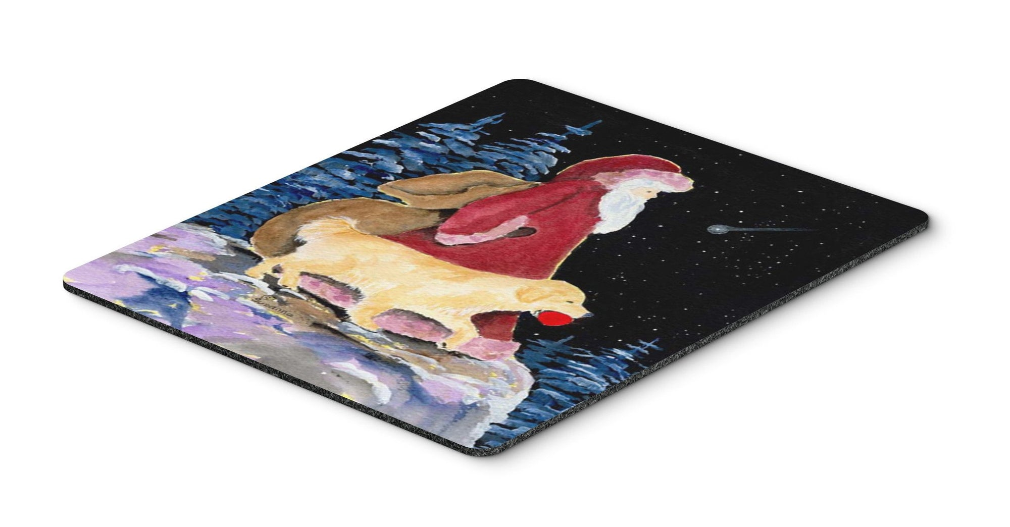 Santa Claus with  Golden Retriever Mouse Pad / Hot Pad / Trivet by Caroline's Treasures