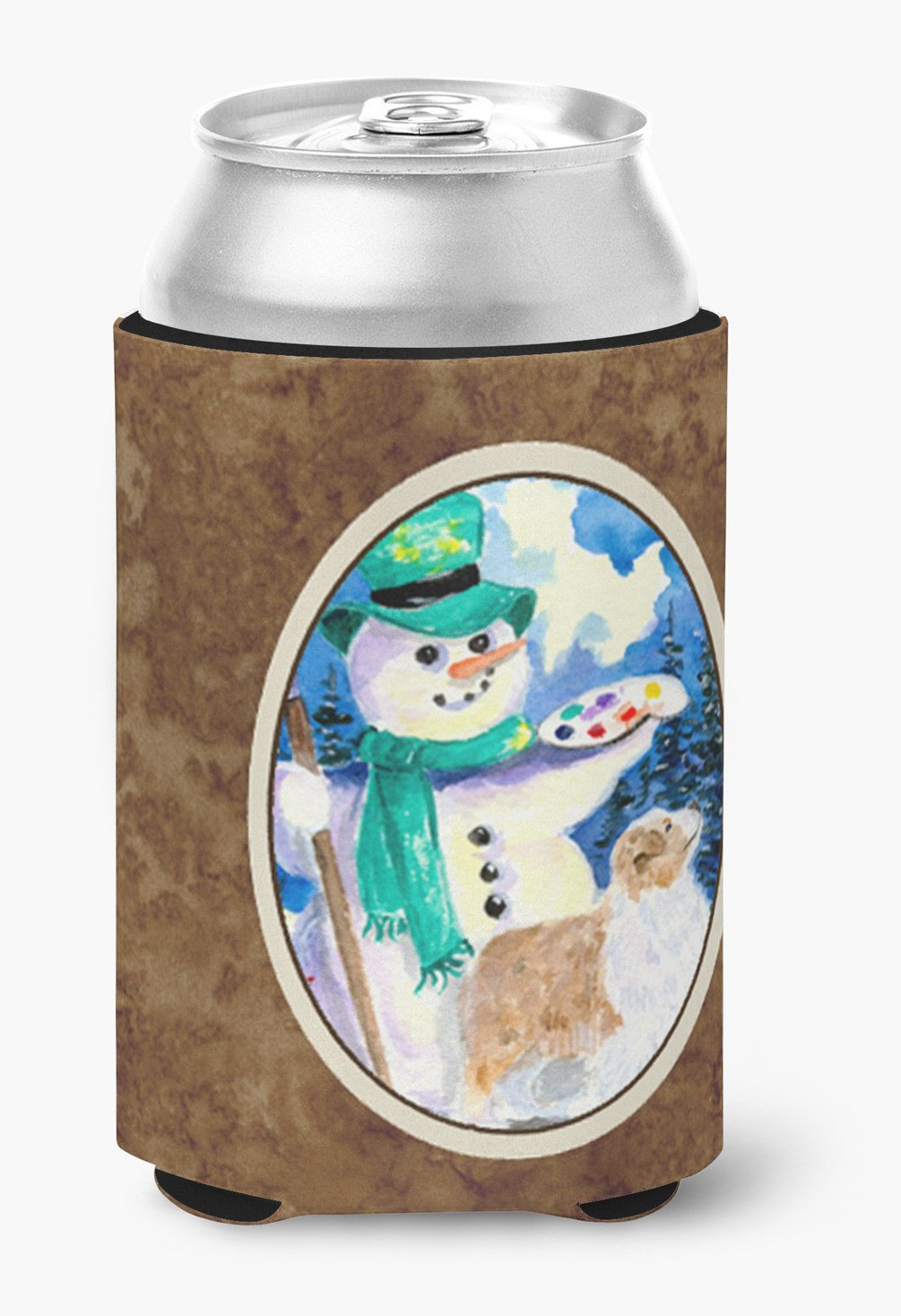 Snowman with Australian Shepherd Can or Bottle Beverage Insulator Hugger by Caroline's Treasures