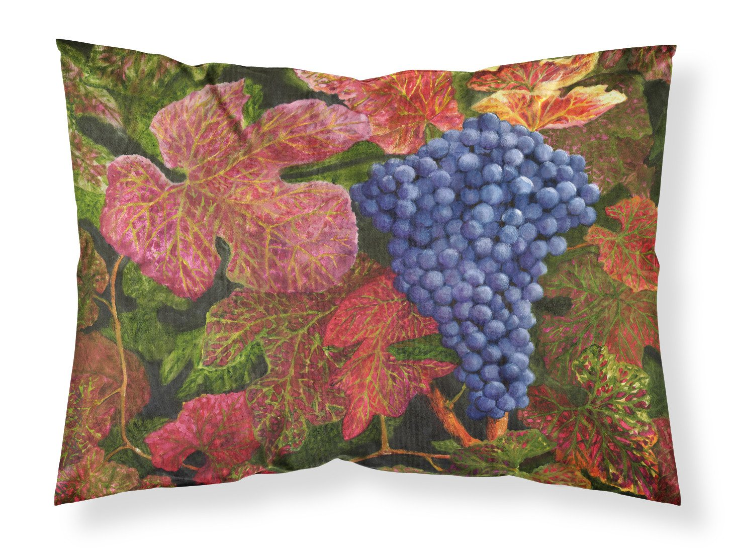 Buy this Grapes Of Joy by Malenda Trick Fabric Standard Pillowcase TMTR0151PILLOWCASE