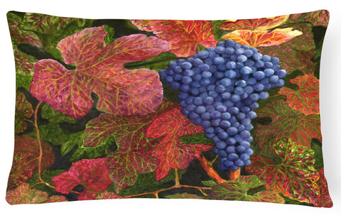 Buy this Grapes Of Joy by Malenda Trick Fabric Decorative Pillow TMTR0151PW1216
