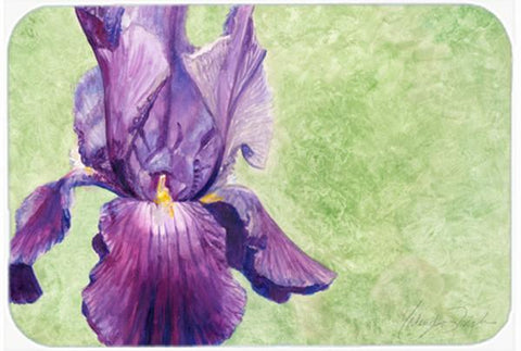 Buy this Purple Iris by Malenda Trick Glass Cutting Board Large TMTR0234LCB