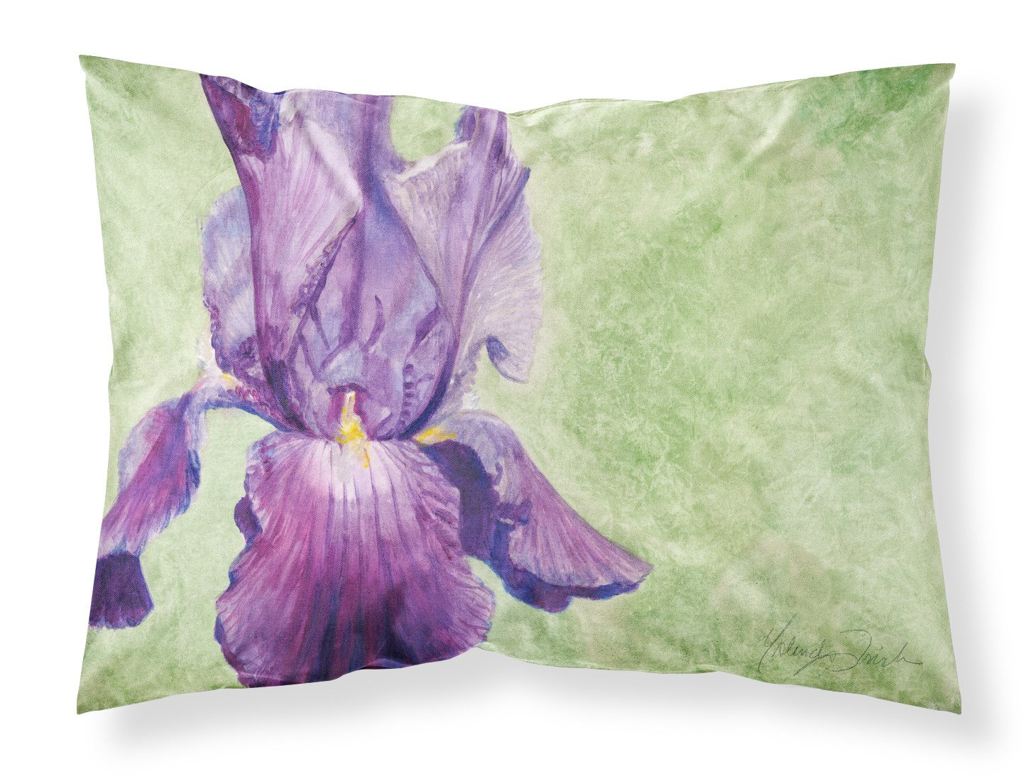 Purple Iris by Malenda Trick Fabric Standard Pillowcase TMTR0234PILLOWCASE by Caroline's Treasures