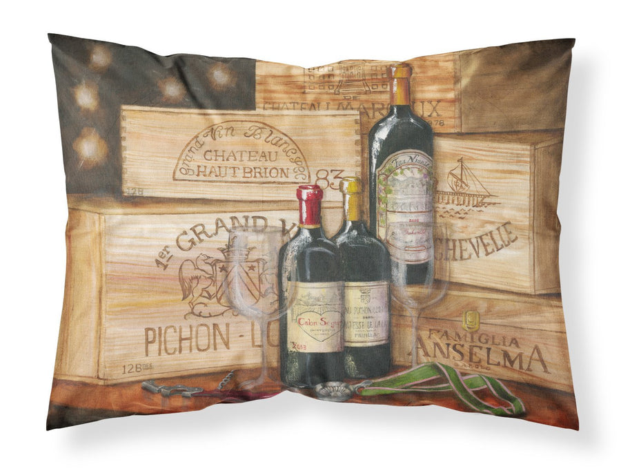 Buy this Wine Gran Vin by Malenda Trick Fabric Standard Pillowcase TMTR0254PILLOWCASE