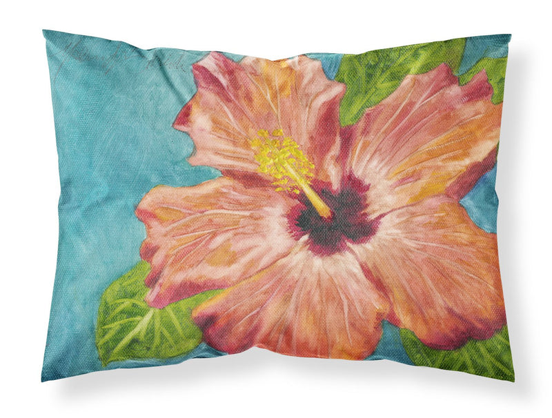 Buy this Coral Hibiscus by Malenda Trick Fabric Standard Pillowcase TMTR0316PILLOWCASE