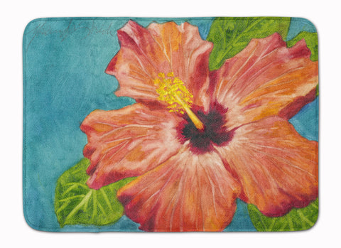 Buy this Coral Hibiscus by Malenda Trick Machine Washable Memory Foam Mat TMTR0316RUG