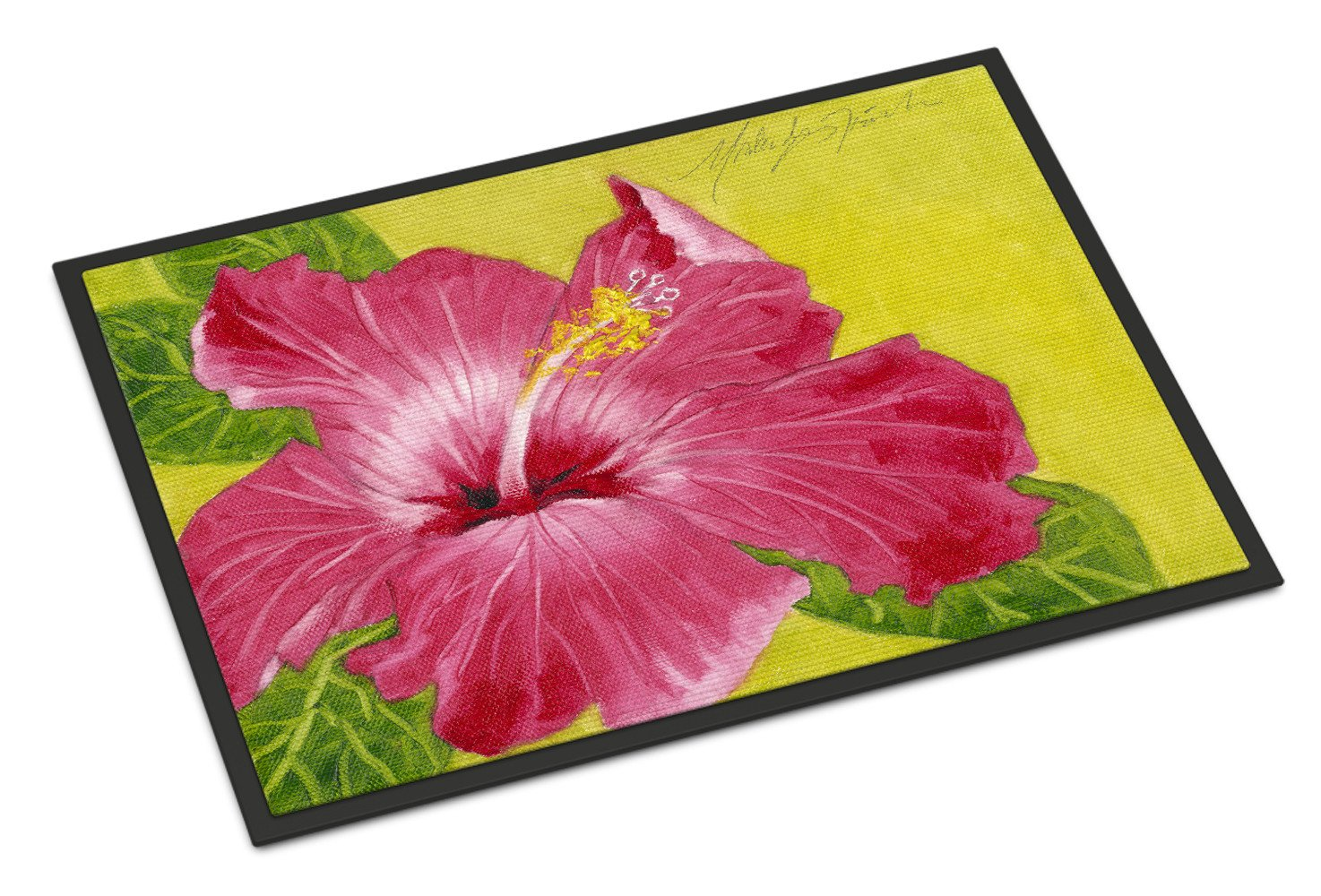 Hot Pink Hibiscus by Malenda Trick Indoor or Outdoor Mat 18x27 TMTR0317MAT by Caroline's Treasures