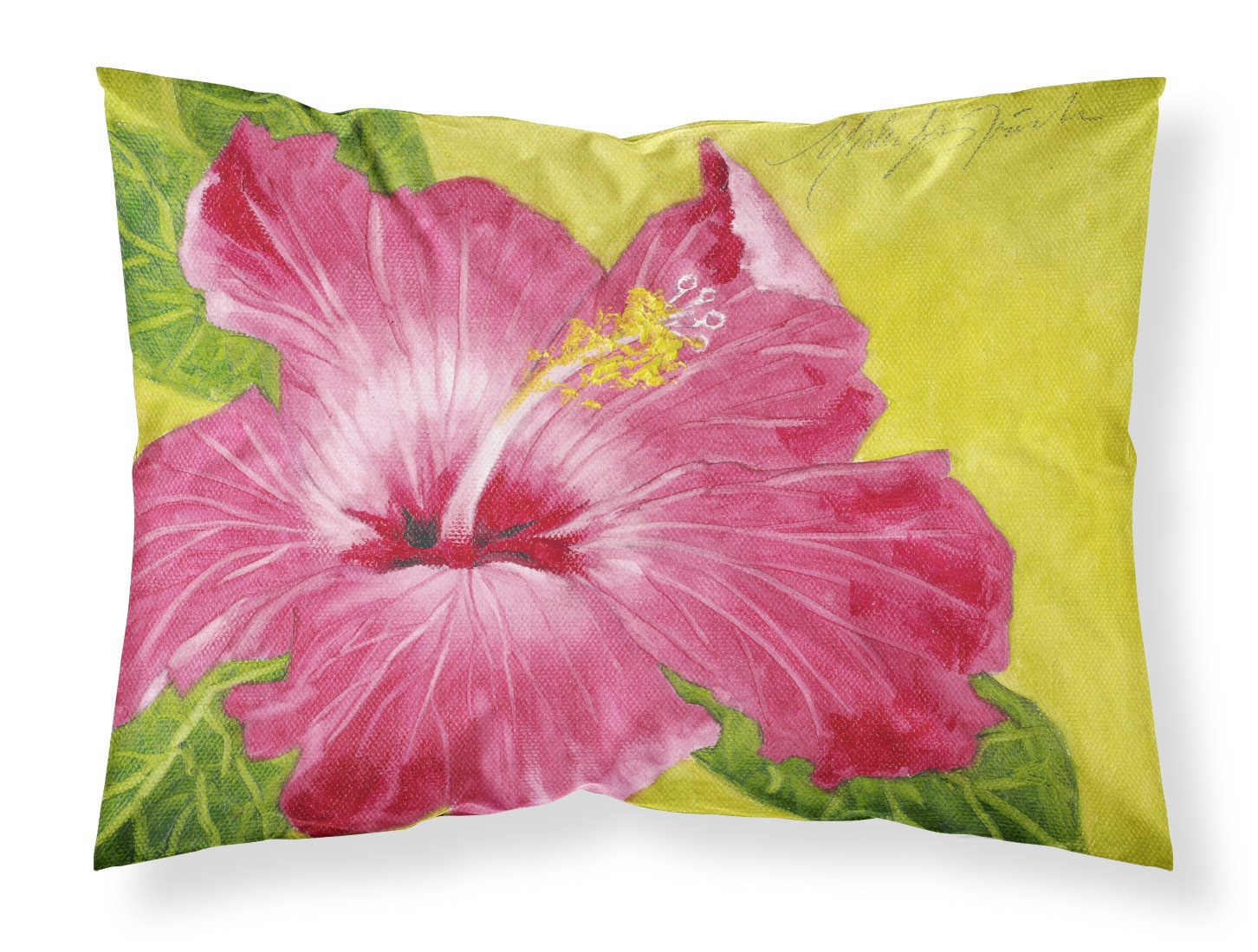 Hot Pink Hibiscus by Malenda Trick Fabric Standard Pillowcase TMTR0317PILLOWCASE by Caroline's Treasures