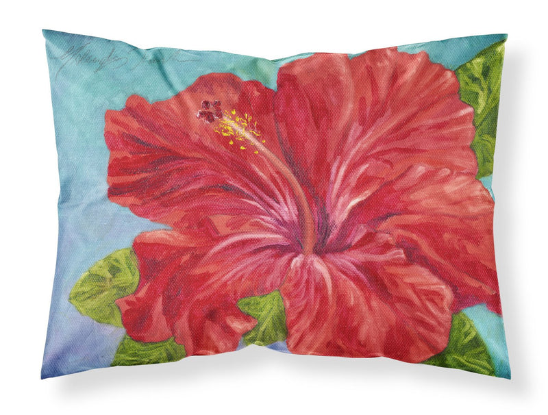 Buy this Red Hibiscus by Malenda Trick Fabric Standard Pillowcase TMTR0319PILLOWCASE