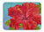 Buy this Red Hibiscus by Malenda Trick Machine Washable Memory Foam Mat TMTR0319RUG