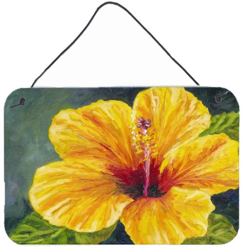 Buy this Yellow Hibiscus by Malenda Trick Wall or Door Hanging Prints