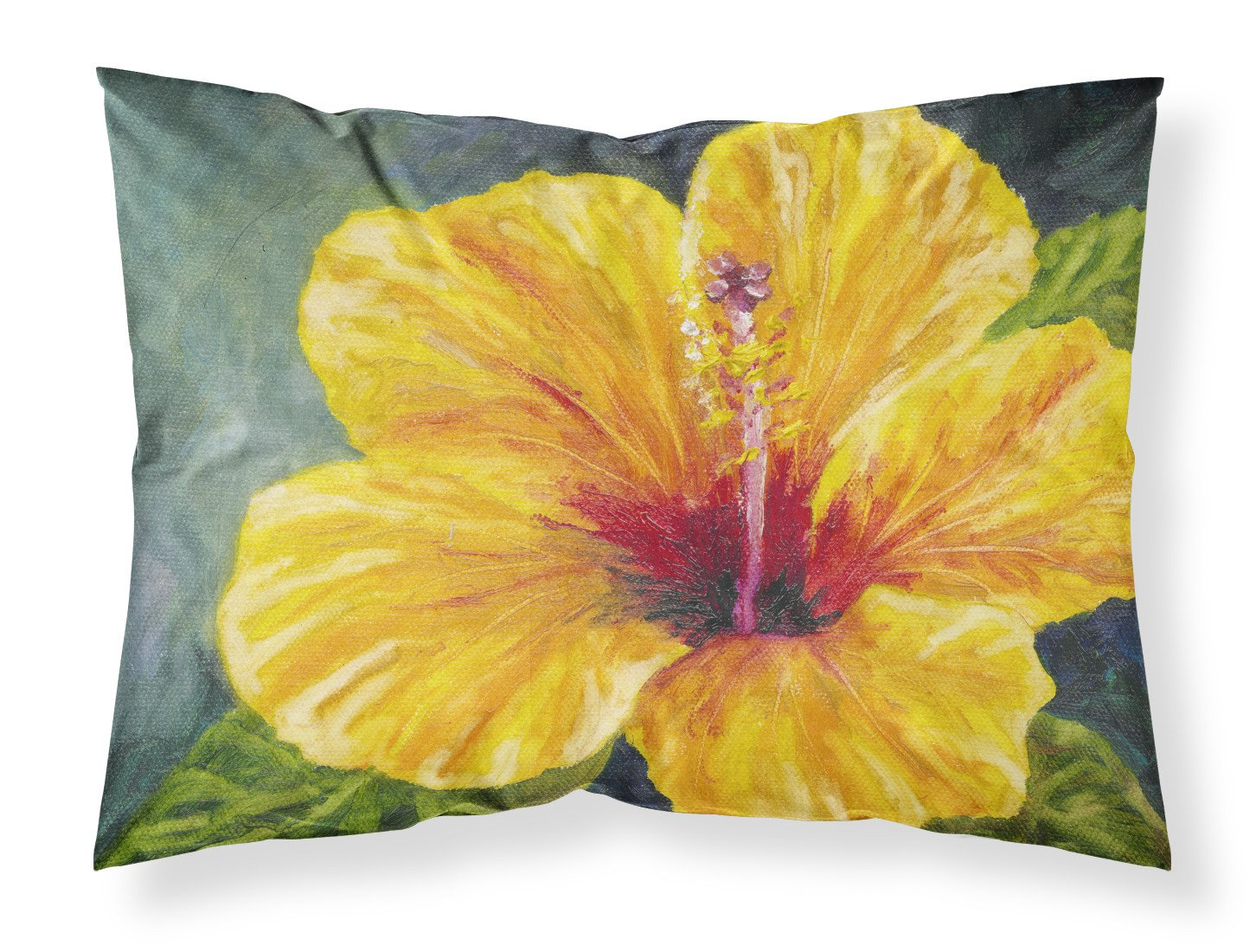 Yellow Hibiscus by Malenda Trick Fabric Standard Pillowcase TMTR0321PILLOWCASE by Caroline's Treasures