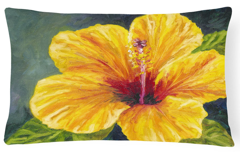 Buy this Yellow Hibiscus by Malenda Trick Fabric Decorative Pillow TMTR0321PW1216