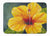Buy this Yellow Hibiscus by Malenda Trick Machine Washable Memory Foam Mat TMTR0321RUG