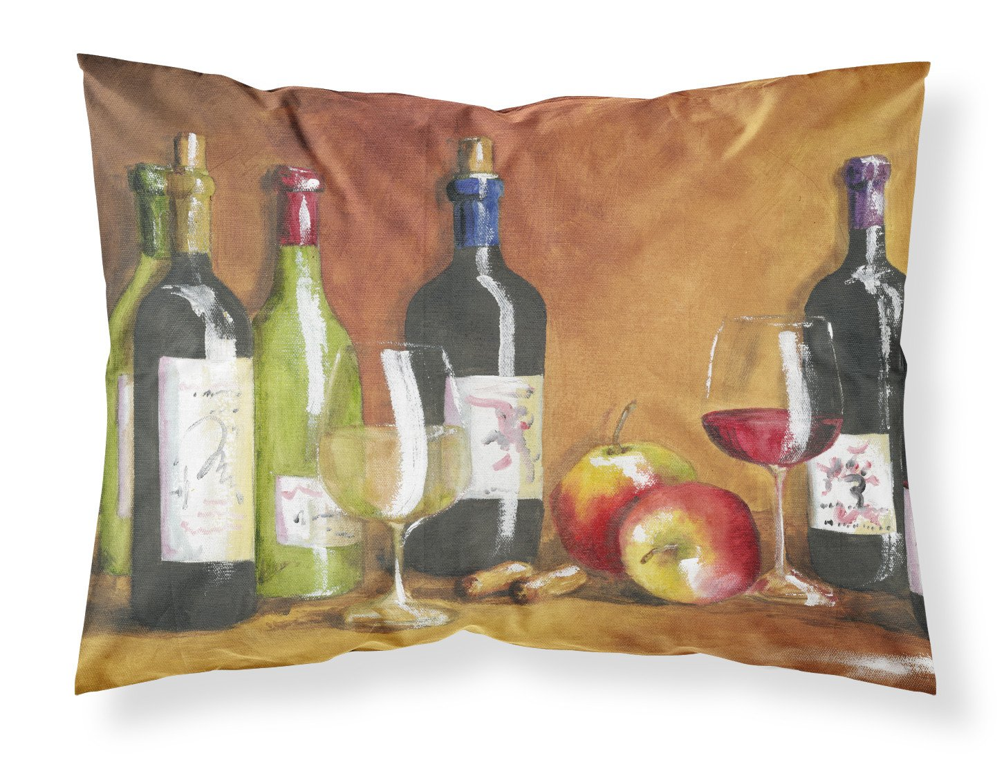 Wine by Malenda Trick Fabric Standard Pillowcase TMTR300APILLOWCASE by Caroline's Treasures