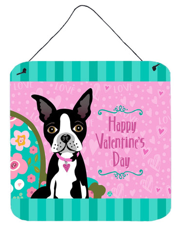 Buy this Happy Valentine's Day Boston Terrier Wall or Door Hanging Prints VHA3001DS66