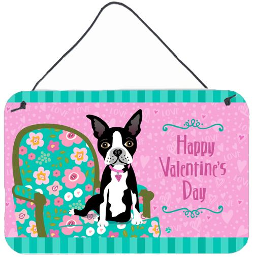 Buy this Happy Valentine's Day Boston Terrier Wall or Door Hanging Prints