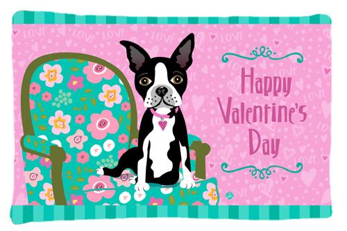 Buy this Happy Valentine's Day Boston Terrier Fabric Standard Pillowcase