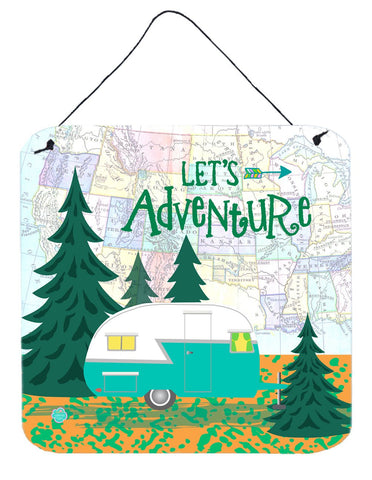 Buy this Let's Adventure Glamping Trailer Wall or Door Hanging Prints VHA3003DS66
