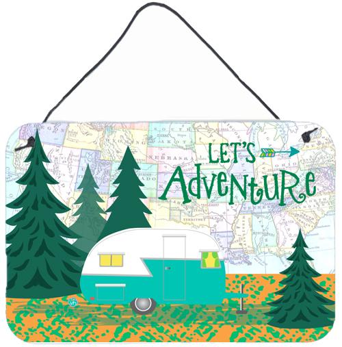 Buy this Let's Adventure Glamping Trailer Wall or Door Hanging Prints VHA3003DS812
