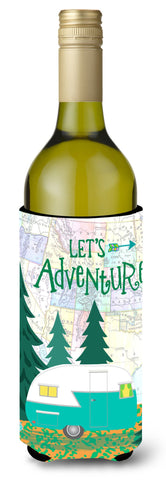 Buy this Let's Adventure Glamping Trailer Wine Bottle Beverage Insulator Hugger VHA3003LITERK