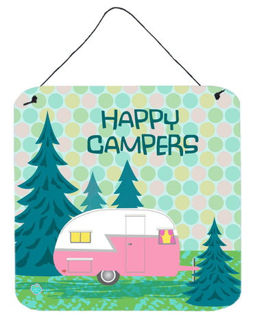 Buy this Happy Campers Glamping Trailer Wall or Door Hanging Prints VHA3004DS66
