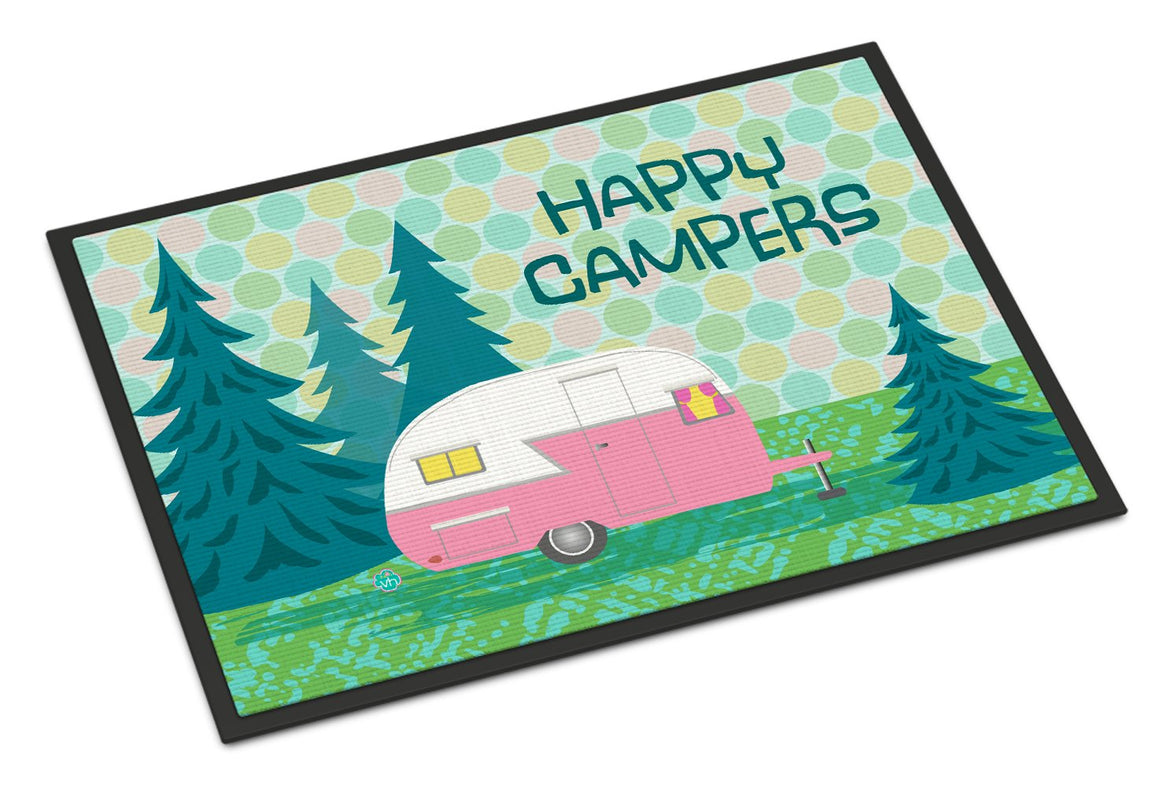Buy this Happy Campers Glamping Trailer Indoor or Outdoor Mat 24x36 VHA3004JMAT