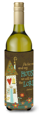 Buy this As For Me And My House Wine Bottle Beverage Insulator Hugger VHA3005LITERK