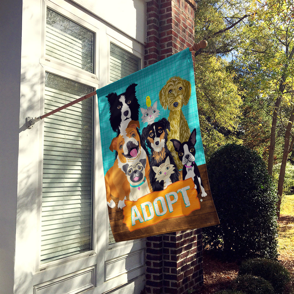 Adopt Pets Adoption Flag Canvas House Size VHA3007CHF by Caroline's Treasures