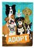 Buy this Adopt Pets Adoption Flag Canvas House Size VHA3007CHF