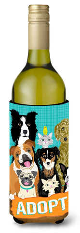 Buy this Adopt Pets Adoption Wine Bottle Beverage Insulator Hugger VHA3007LITERK