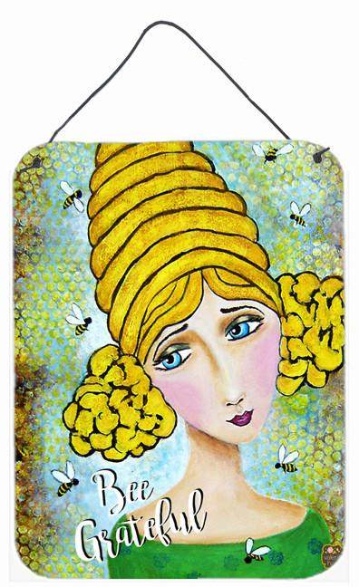 Bee Grateful Girl with Beehive Wall or Door Hanging Prints VHA3008DS1216 by Caroline's Treasures