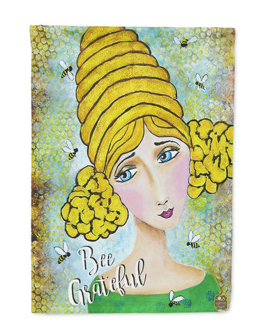 Buy this Bee Grateful Girl with Beehive Flag Garden Size VHA3008GF